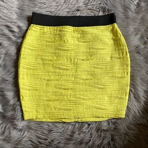 Forever 21 Plus Yellow Bandage Skirt